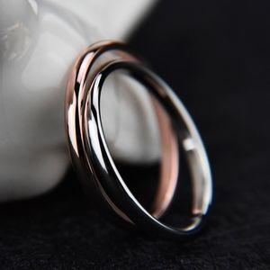 Rose Gold Stainless Steel Plain Wedding Ring